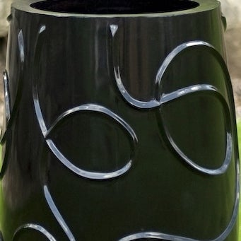 Tambou Fiberglass Black Over-sized Planter (Philippines)