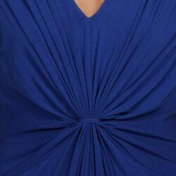 Calvin Klein Women's Twist Front V-neck Dress