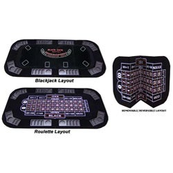 Professional Felt 8-players Poker/ Blackjack/ Roulette Poker Table Top