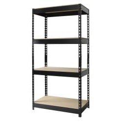 Iron Horse Riveted Steel 4-shelf Shelving Unit