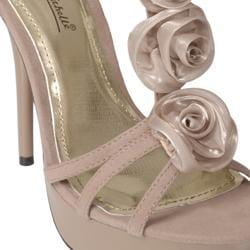 Journee Collection Women's 'Hustler-15' Floral Accent T-strap Stiletto