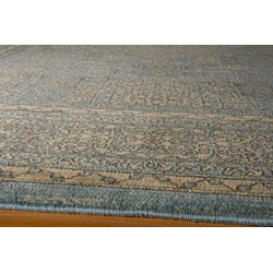 Preston Blue Tabriz Rug (5'3 x 7'6)