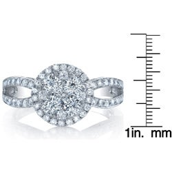 18k White Gold 1 1/2ct TDW Diamond Engagement Ring (G-H, SI1-SI2)