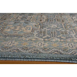 Preston Blue Agra Rug (3'11 x 5'7)