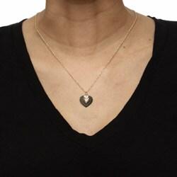 Black Hills Gold Black Powder-coated Brass Heart Necklace