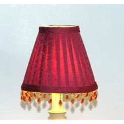 Burgundy Brocade Chandelier Mini Shades (Set of 2)