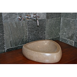 Concrete Triangle Beige Sink