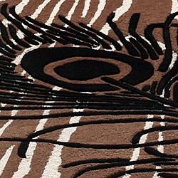 nuLOOM Handmade Moda Peacock New Zealand Wool Rug (5' x 8')