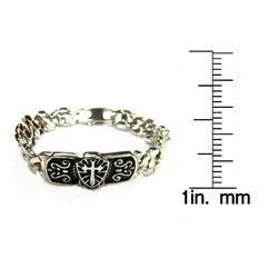 Stainless Steel Men's Celtic Cross Bracelet