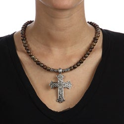 Crystale Tiger Eye Cross Necklace