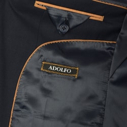 Adolfo Men's Navy 2-button Suit