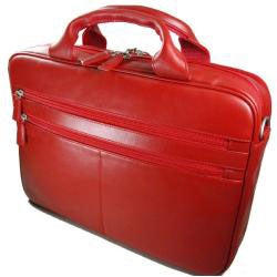 Castello Romano Red Leather Briefcase