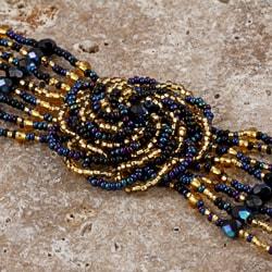 Beaded Blue Flower Bracelet (Guatemala)