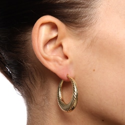Mondevio 18-karat Gold High-polished Stainless Steel Circle-hoop Earrings