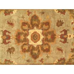 Hand-woven Mamluk Cream Wool Rug (5'6 x 8'6)