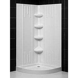 DreamLine Sparkle Frosted Glass Enclosure 36x36-inch Base and Backwall Kit