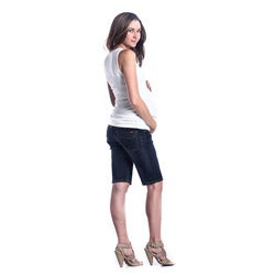 Lilac Clothing Women's Maternity Denim Bermuda Shorts