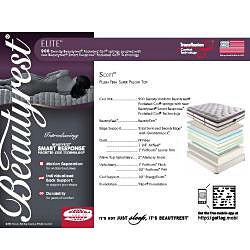 Beautyrest Elite Scott Plush Firm Super Pillow Top Cal King-size Mattress Set