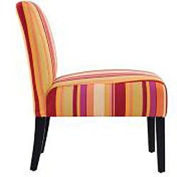 Portfolio Niles Striped Armless Accent Chair