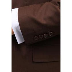 Ferrecci's Men's Brown 2-button Vested Suit