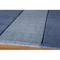 Hand-tufted Manhattan Blue Wool Rug (3'3 x 5'3)