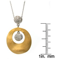 Beverly Hills Charm 18k Gold over Silver 1/4ct TDW Diamond Necklace
