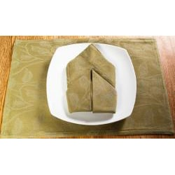 Floral Sage Green Placemat and Napkin 8pc Set
