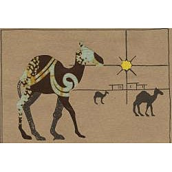 Set of 4 Camel Greeting Kitenge Fabric Cards (Kenya)