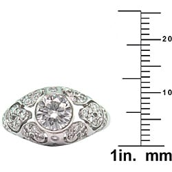 14k White Gold Certified 1 3/5 TDW Clarity-Enhanced Diamond Ring