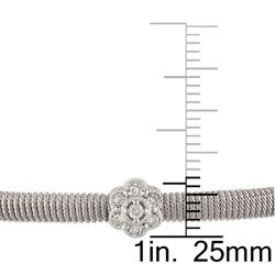 Miadora 14k White Gold 3/8 ct TDW Diamond Bangle (G-H, SI1-SI2)