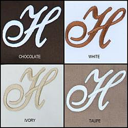 Egyptian Cotton 300 Thread Count Solid Script 'H' Monogram Sheet Set