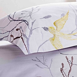 Swallow Embroidered King-size 3-piece Duvet Cover Set