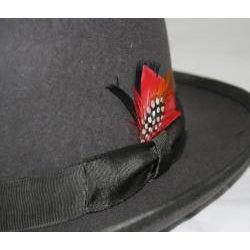 Ferrecci Men's Gray Wool Bowler Hat