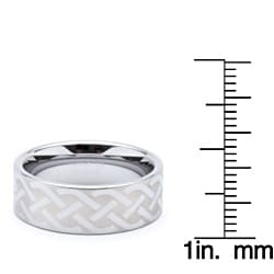 Men's Tungsten Celtic Laser-etched Ring (8 mm)