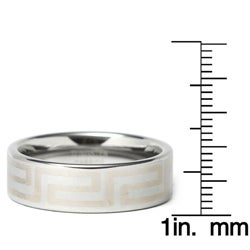 Laser Etched Tungsten Ring (8 mm)