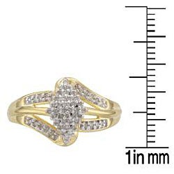 Sterling Silver and 14k Gold Vermeil 1/4ct TDW Diamond Ring (K-L, I1-I2)
