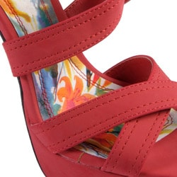 Journee Collection Women's 'Dynamite' Strappy Platform Stilettos