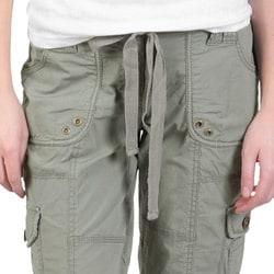Ci Sono by Journee Junior's Low Rise Cargo Capri Pants