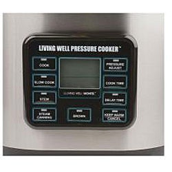 Montel Williams Living Well 6-quart Pressure Cooker (Refurbished)
