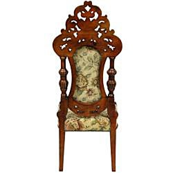 Mahogany Citrine Flowers Queen Victoria Parlor Chair (China)