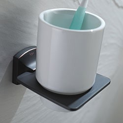 Kraus Fortis Bathroom Accessories - Wall-mounted Ceramic Tumbler Holder Oil Rubbed Bronze