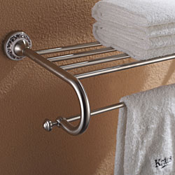 Kraus Apollo Bathroom Accessories - Bath Towel Rack with Towel Bar Brushed Nickel