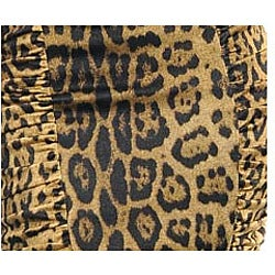 Stanzino Women's Black/ Tan Animal Print Skirt