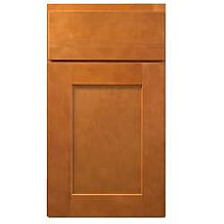 Honey Stained 27-inch Wall Kitchen Cabinet