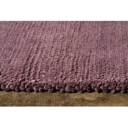 Hand-woven Violet Wool Rug (3'6 x 5'6)