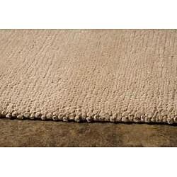 Hand-woven Beige Wool Area Rug (3'6 x 5'6)