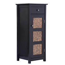 Fifth Avenue Espresso/ Amber Drawer/ Door Cabinet