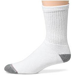 Hanes Classics Men's Big and Tall White Cotton-blend Crew Socks (Pack of 6)