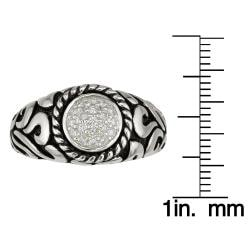 Sterling Silver Men's 1/4ct TDW Round Diamond Ring (H-I, I1-I2)