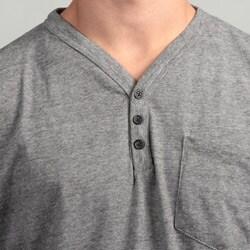 Burnside Men's Grey V-neck Tee